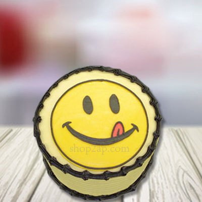 Kid Cakes In Hyderabad Round Smiley Cake Online Cakes India